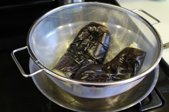 drain eggplant