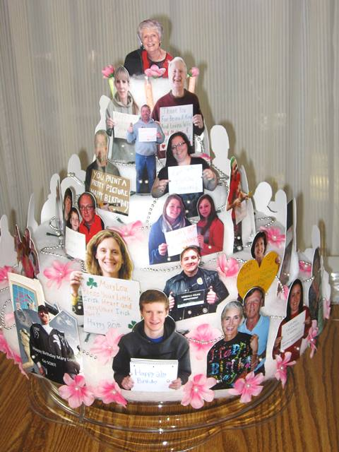 Share My 80th Birthday Cake Project For Mary Lou With You It Was A Very Personal And Really Meaningful Gift She Loved Its Pictures Of Dad