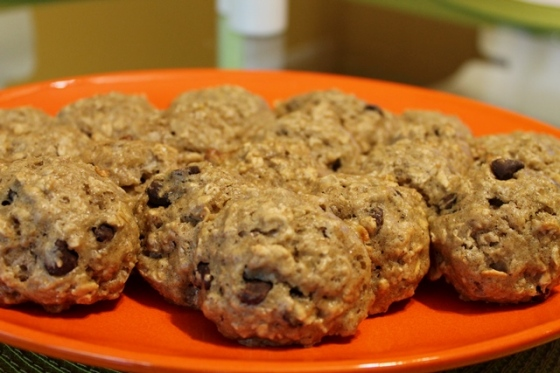 banana choco chip cookies