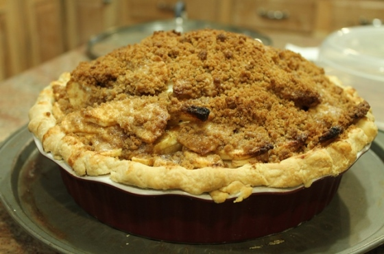 cooked pie