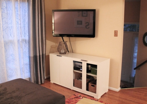 finished TV area furniture