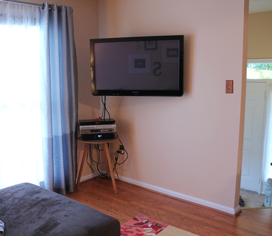 TV area before