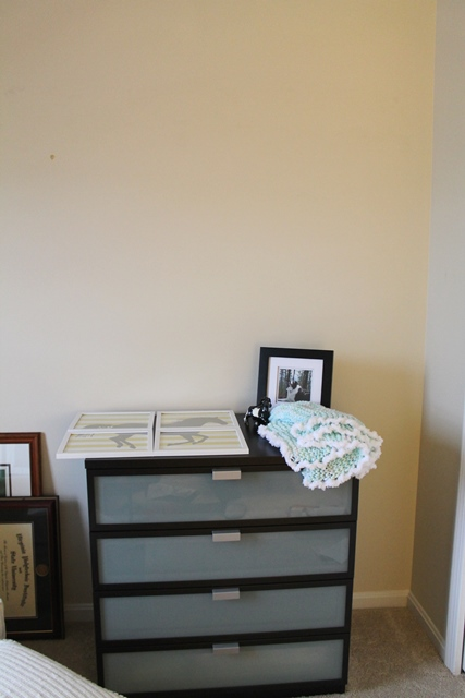 dresser wall before