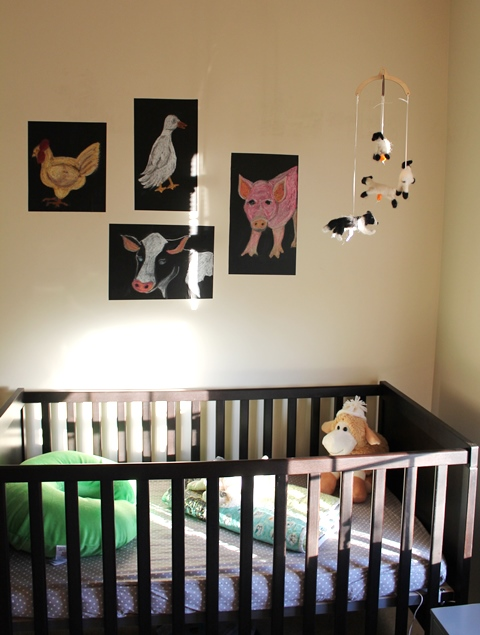 nursery crib area