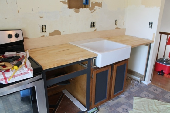 countertop dry fits