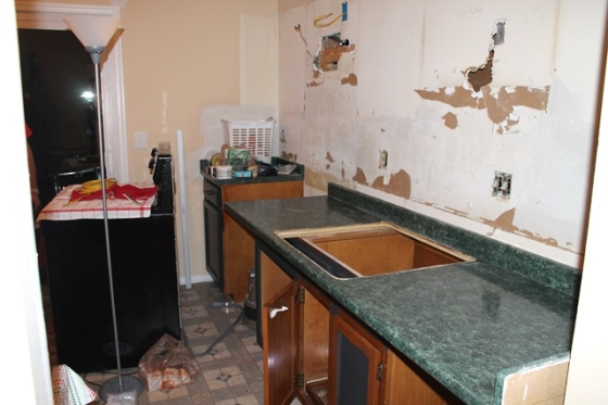 kitchen disaster sink out