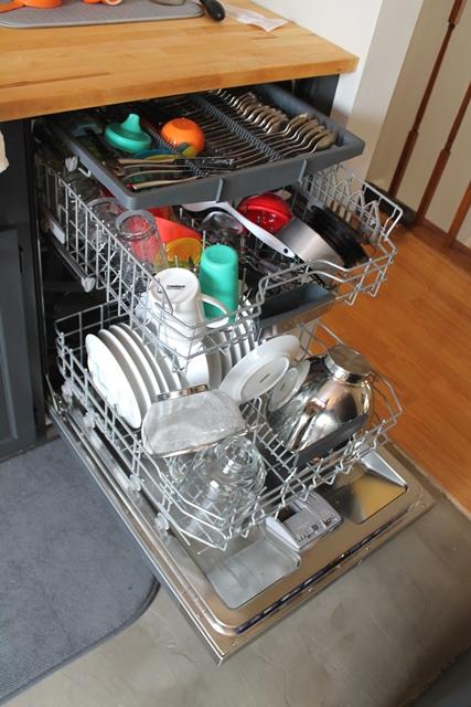 dishwasher open